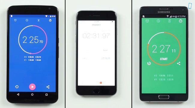 Pusimos a prueba un Nexus 6, un iPhone 6 y un Samsung Galaxy Note 4. Estos son los resultados