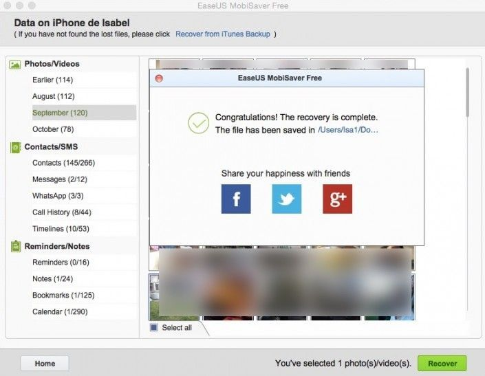 Los datos se almacenan en la computadora o Mac