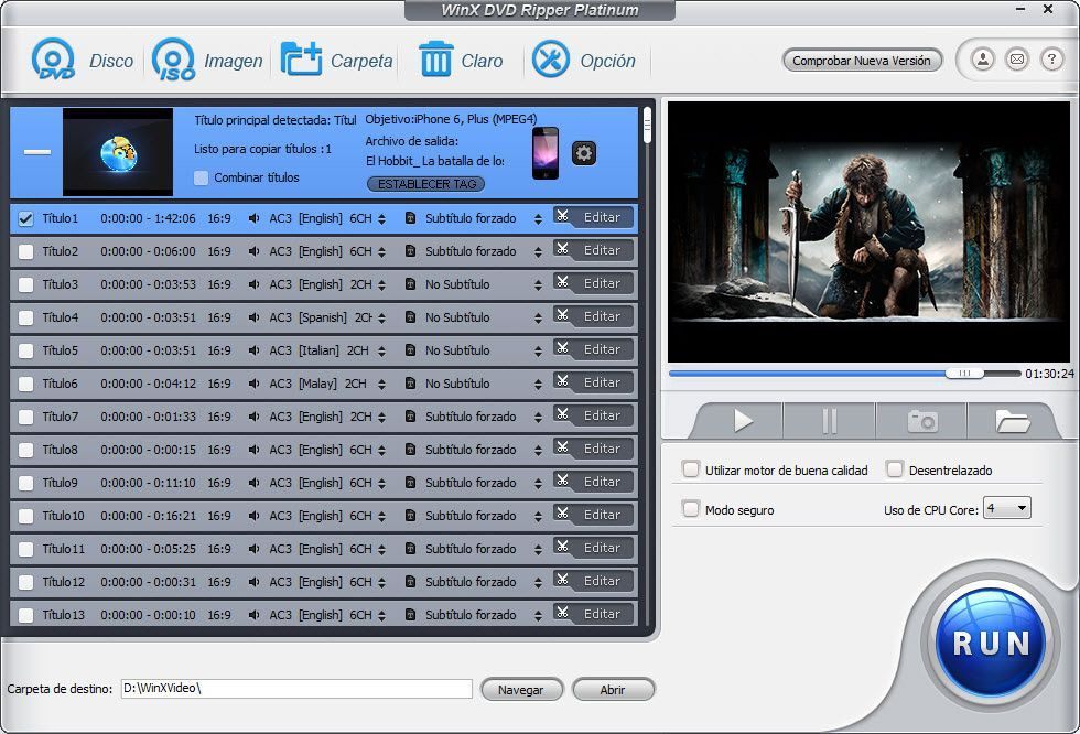 Pasa DvD al Iphone y ipad, gratis para Windows y Mac
