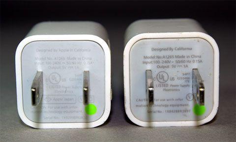 Por qué no utilizar cargadores de iPhone de marcas desconocidas