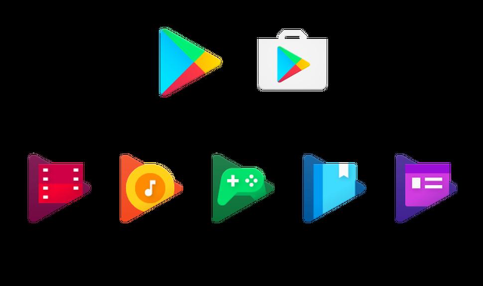 Así lucirá el nuevo diseño de los iconos de Google Play para todos los usuarios de Android.