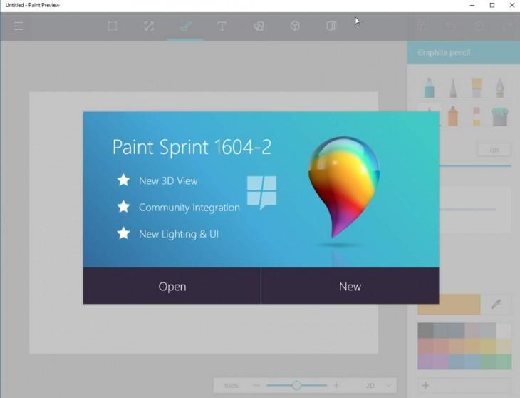 Microsoft prepara el nuevo Paint para su Windows 10