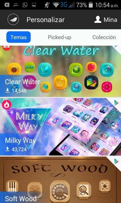 Zero launcher te permite elegir entre varios temas descargables desde la Google Play Store