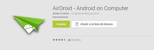 Manejo tu Android desde tu ordenador con AirDroid.
