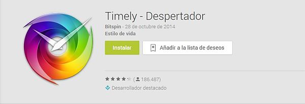 Timely es un despertador que debes tener en tu Android por su gran diseño y funcionalidad