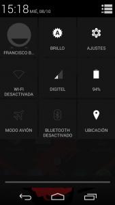 Barra de notificaciones Android KitKat