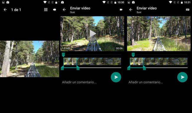 Crear GIF animados es muy similar a enviar un video