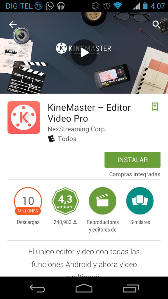 Puedes descargar esta fabulosa App desde la PlayStore