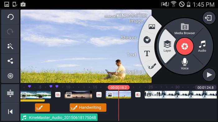 KineMaster cuenta con un panel intuitivo y facil de usar