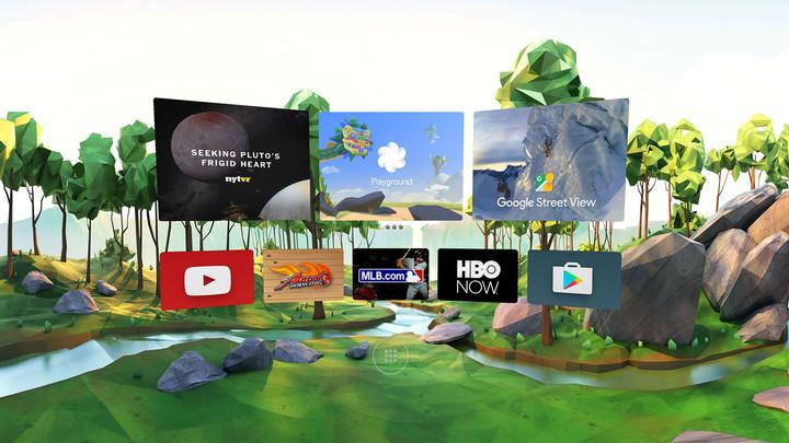 Una interfaz de realidad virtual intuitiva que incluye un mando para controlarla