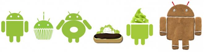 Evolución Android hasta GingerBread.