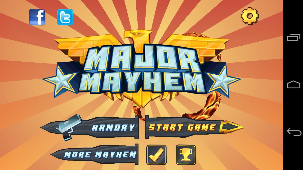 Major mayhem es un gran videojuego que debes probar en tu terminal.