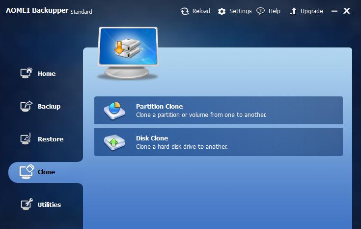 Clona tus particiones o el mismo disco duro desde el propio Backupper.