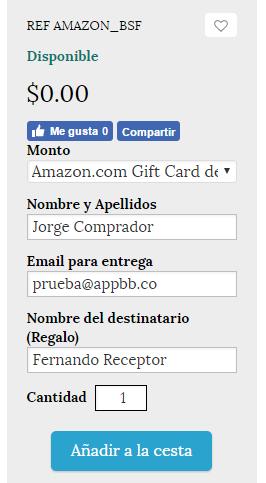 amazon gift cards con bolivares