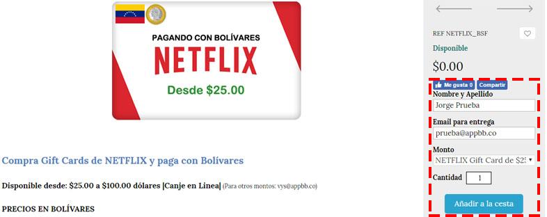 saldo y suscripciones PS4, Netflix, XBOX con Bolívares
