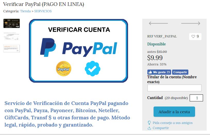 verificar PayPal 2018
