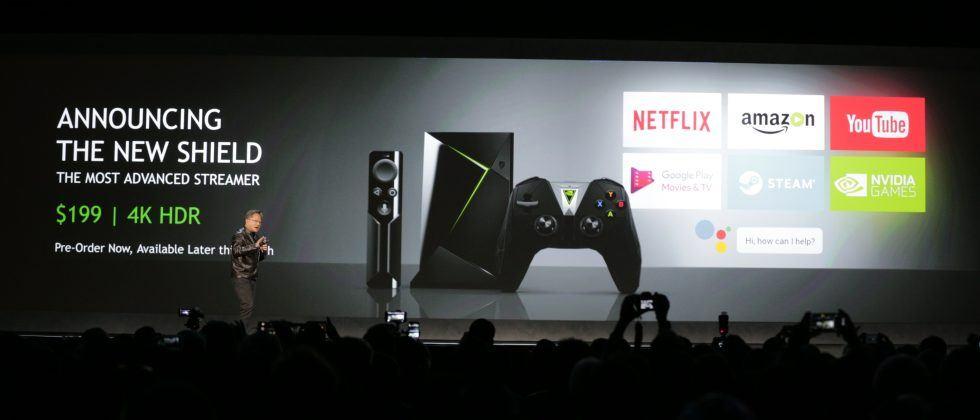 Presentación de la nueva Nvidia Shield en el CES de las Vegas 2017.