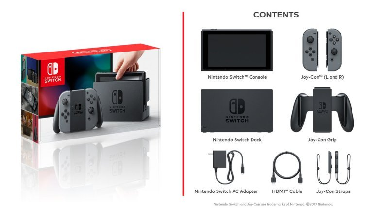 Todos estos accesorios estarán incluidos en la compra de tu nueva Nintendo Switch.