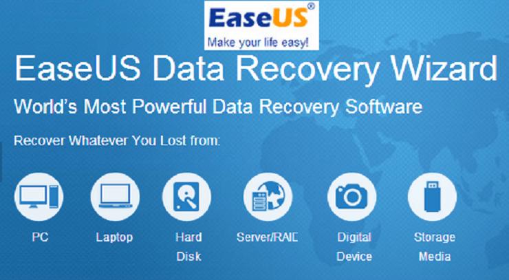 Recupera toda tu información de tu disco duro con EaseUS Data recovery Wizard una gran herramienta a tener en cuenta.