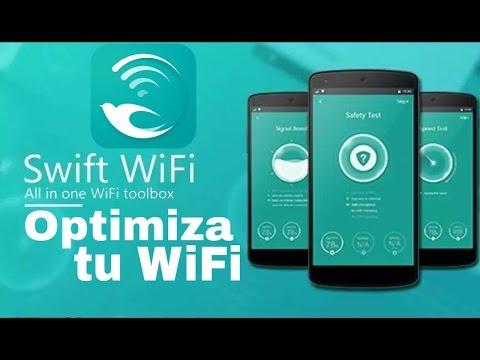 Swift WiFi optimiza tu red WiFi y mantiene un gran numero de puntos de acceso a tu alrededor.