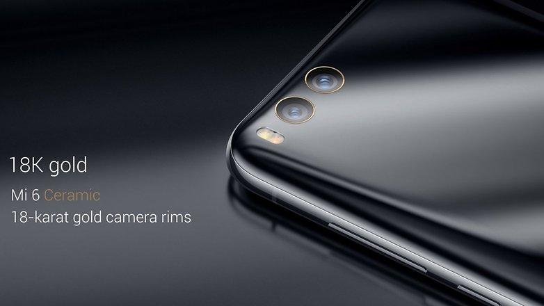 Una variante con cuerpo de cerámica y aros de 18 quilates en sus cámaras traseras del nuevo Xiaomi Mi 6.