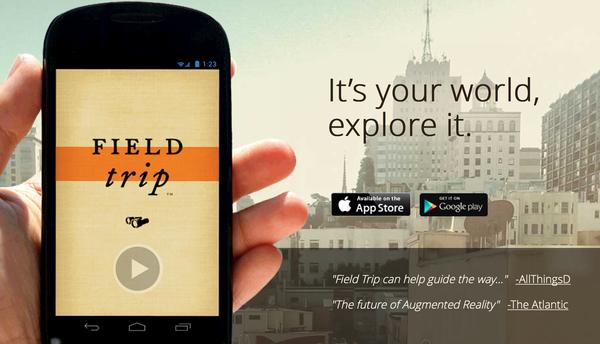 Por ultimo Field Trip completa nuestras opciones de ciertas Aplicaciones móviles que ayudan ahorrar en un viaje al alcance de tu mano.