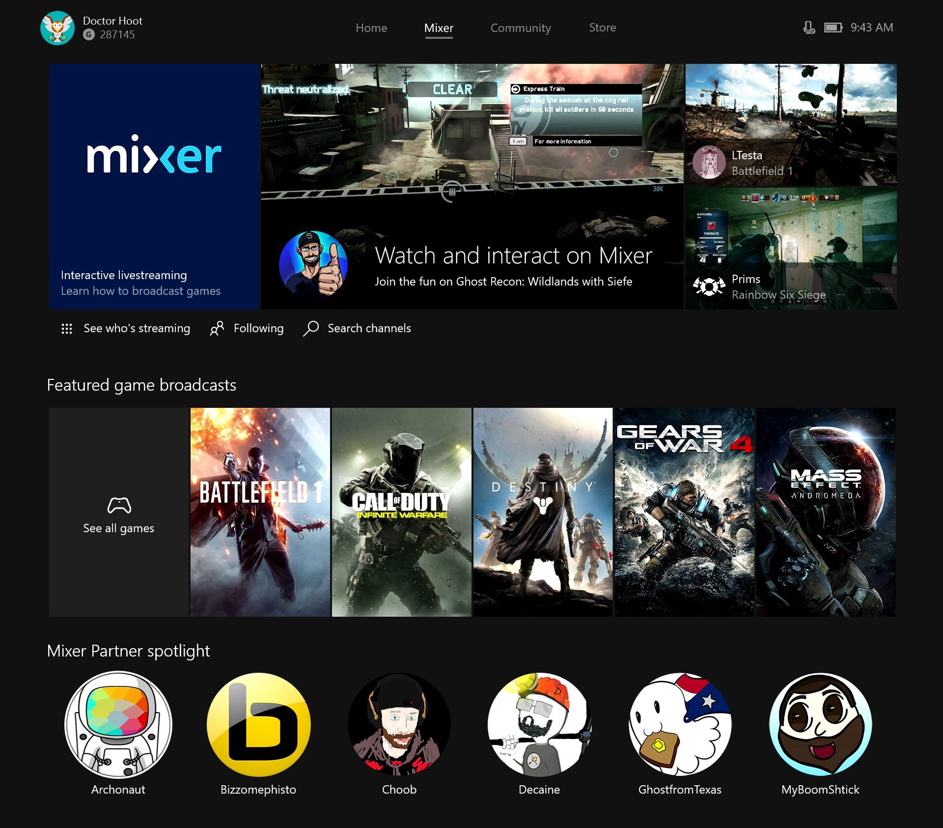 Mixer la plataforma Streamer de Microsoft que rivalizara Twitch.