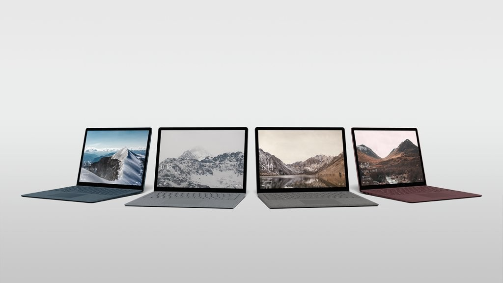 Un Nuevo Windows 10 S y Surface Laptop con 4 colores distintos.