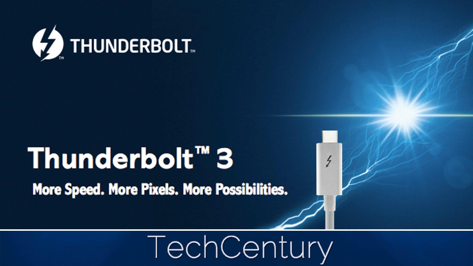Puerto USB tipo C Thunderbolt 3 tiene un futuro cercano en los dispositivos.