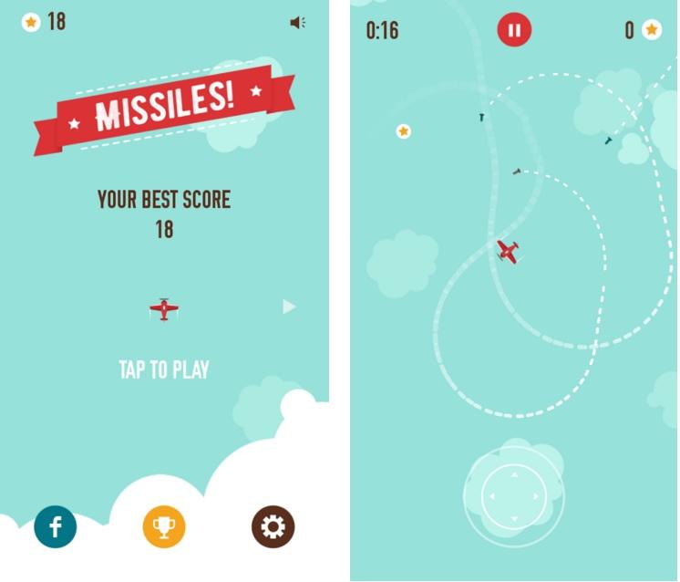Missiles! un gran videojuego que puede ponerte un enorme reto de supervivencia.