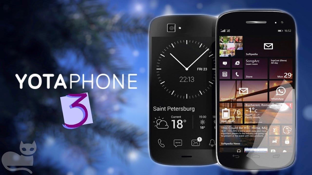 Yota Phone 3 el Smartphone con doble pantalla regresa con mejores características