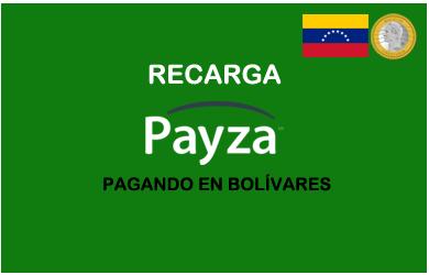 compra y venta de saldo Payza con bolivares