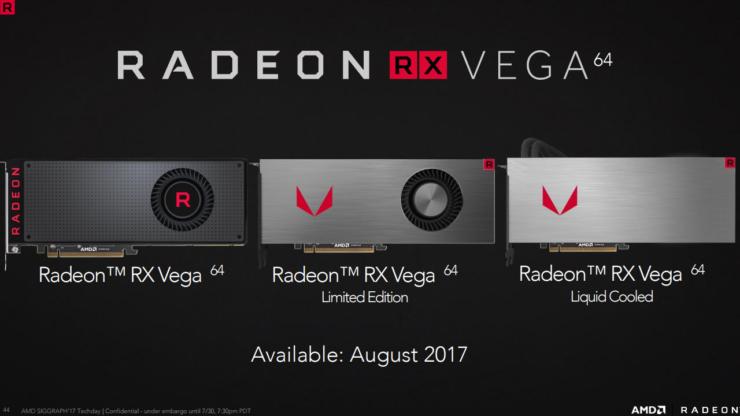 Se presentan las AMD Radeon RX VEGA tres nuevas versiones de la familia de tarjetas gráficas.