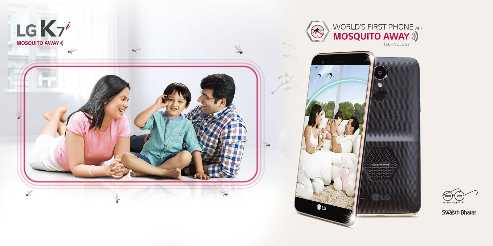 LG K7i un salto de innovación siendo el primer Smartphone con tecnologia repelente de mosquitos.