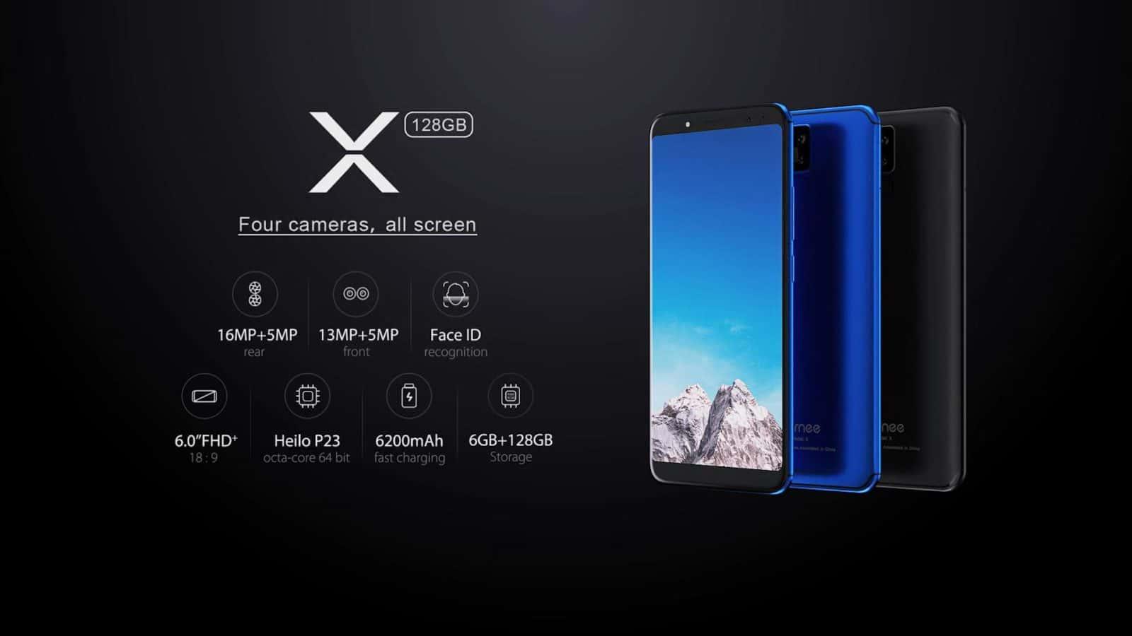 Vernee X primer Smartphone con 4 cámaras por parte de la compañía
