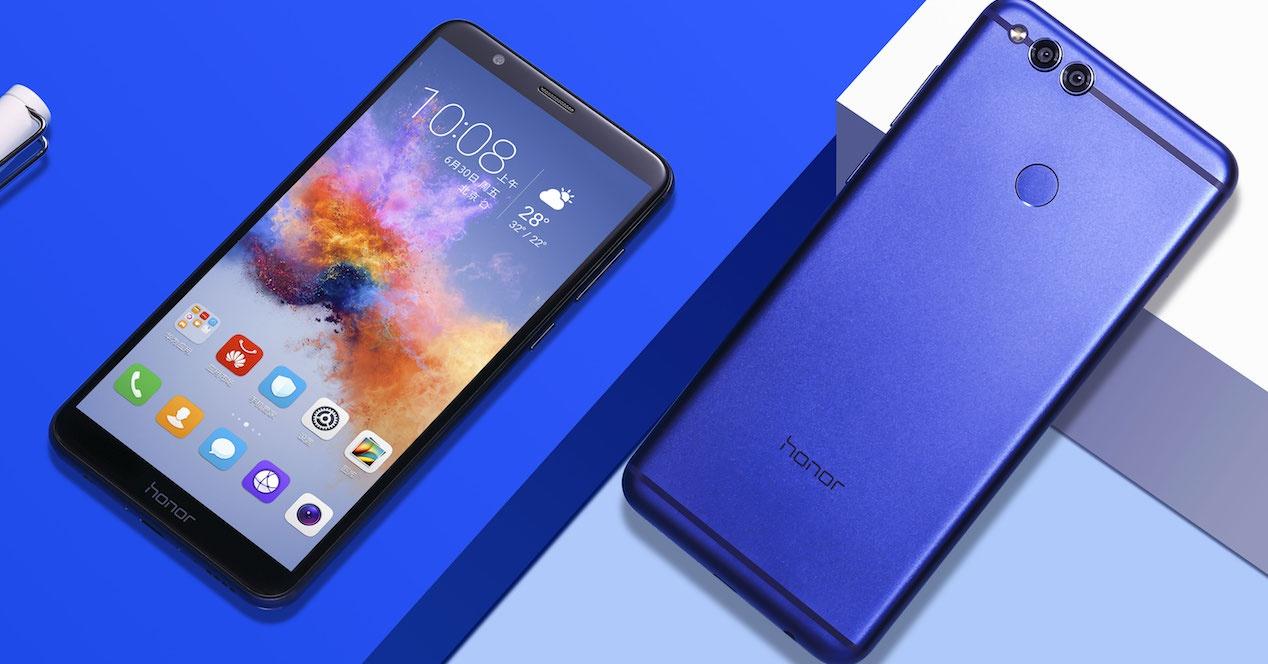 Huawei Honor 7X con pantalla sin marcos y relación 18:9 gama media/alta