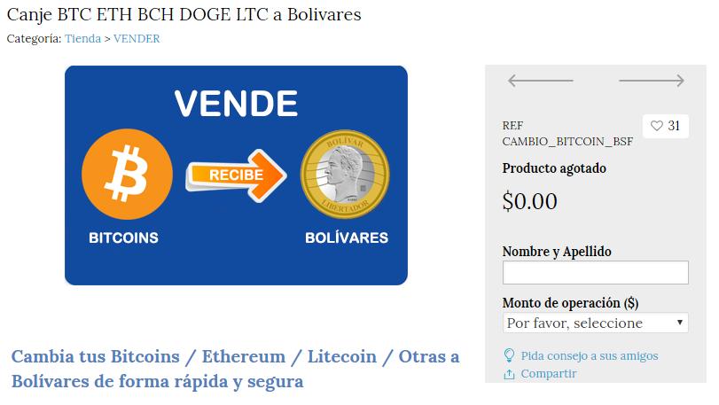 compra y venta de Bitcoins, Altcoins y Ethereum con Bolivares