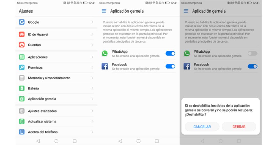 Huawei la Aplicación gemela en su gama de Smartphones y variantes a tener en cuenta