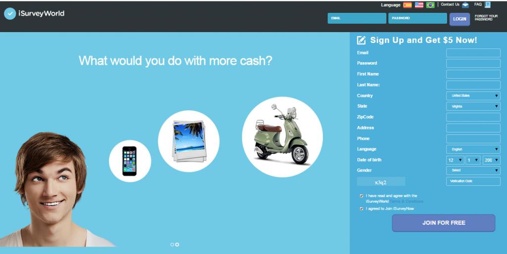 IsurveyWorld gana dinero en internet
