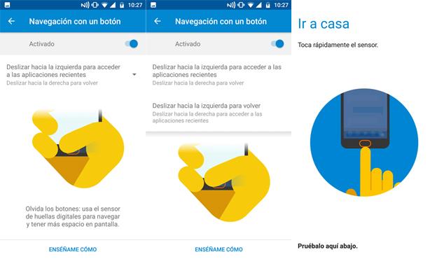 Moto G5 como usar el control gestual