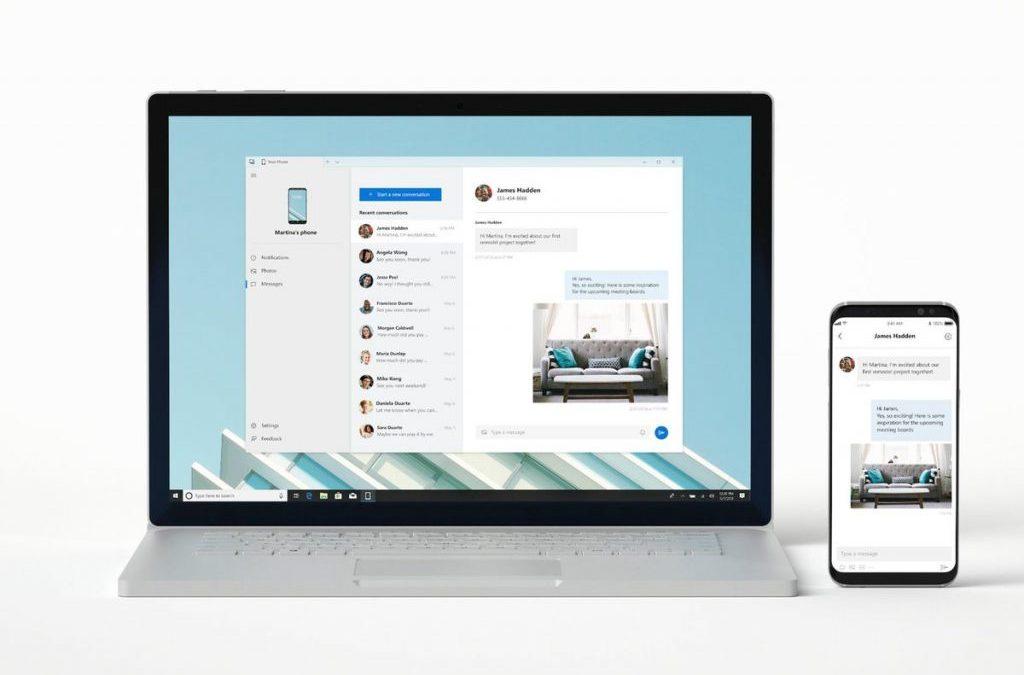 Your phone es la app de microsoft que te permite conectar tu teléfono a tu pc