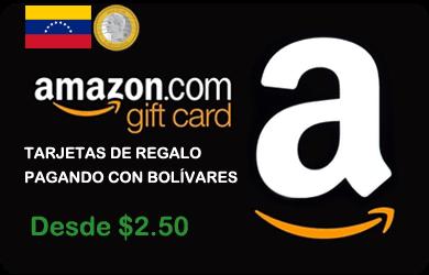 Compra Gift Cards o Tarjetas de Regalo con Bolívares